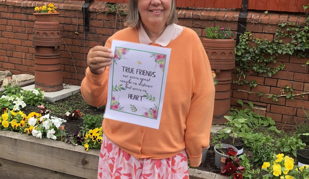 Resident at Harry Priestley House during Learning Disability Week