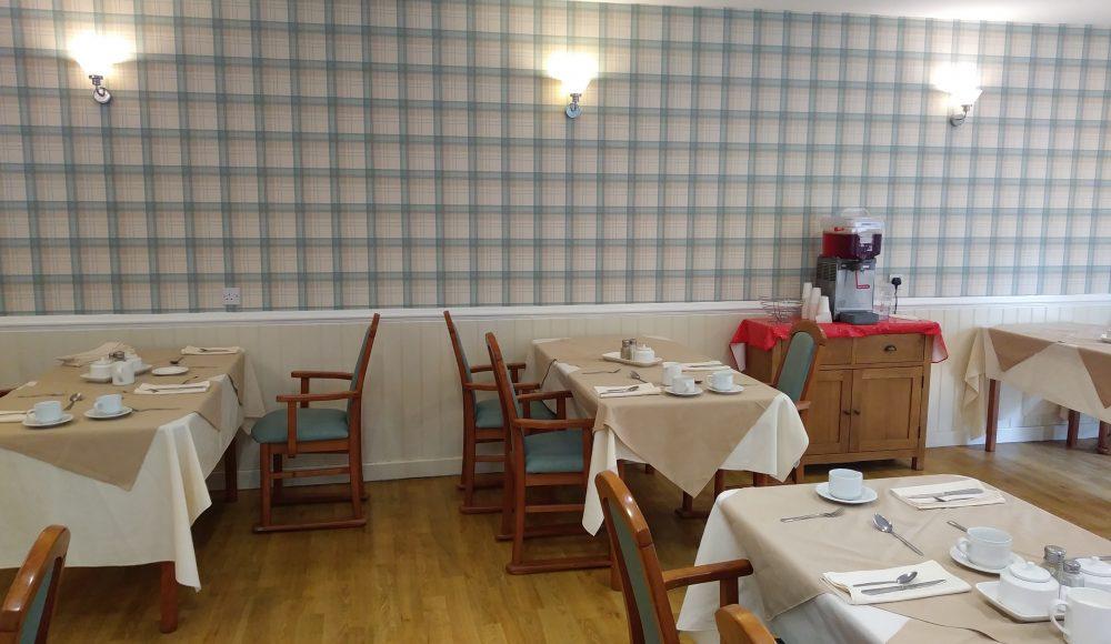 The Tithebarn dining room