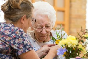 Flower arranging at Prince Michael of Kent Court