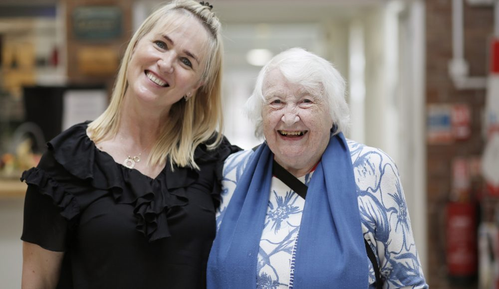 Resident and staff member at Barford Court