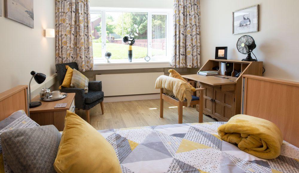 Bedroom at Cadogan Court, Exeter.