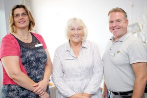 Left to right: Home Trainer Helen Cook, Home Manager Victoria Wilson, and Facilities Manager Walter Turnbull
