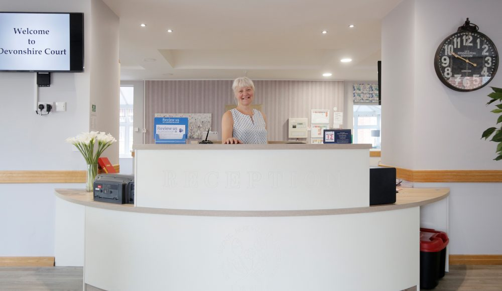 Reception desk at Devonshire Court