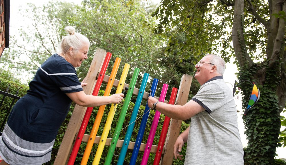 Musical outdoor activities at Harry Priestley House
