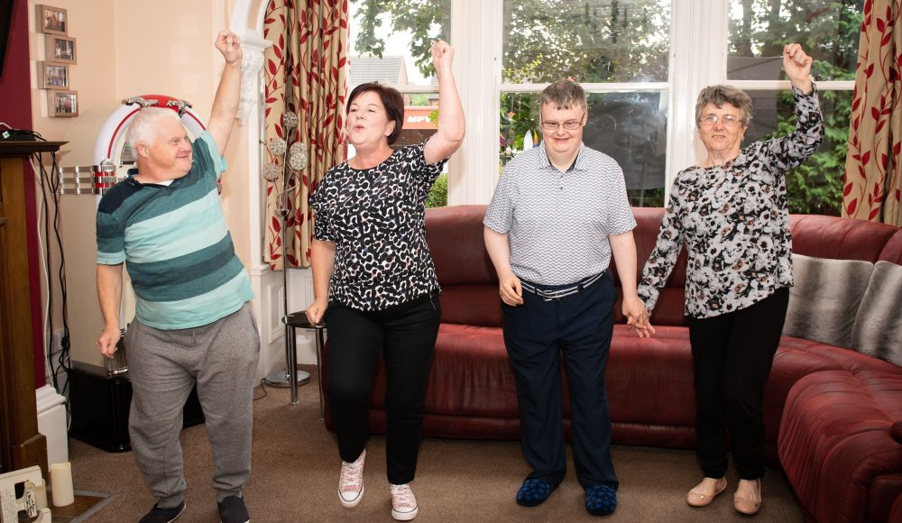 Residents dancing at at Harry Priestley House