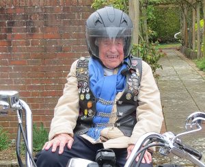Resident Jean at Cornwallis Court wish to ride a motorcycle