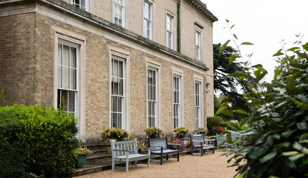 Garden and outdoor seating at Prince Edward Duke of Kent Court
