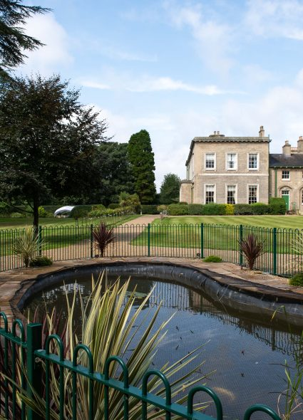 Fish pond and gardens at Prince Edward Duke of Kent Court