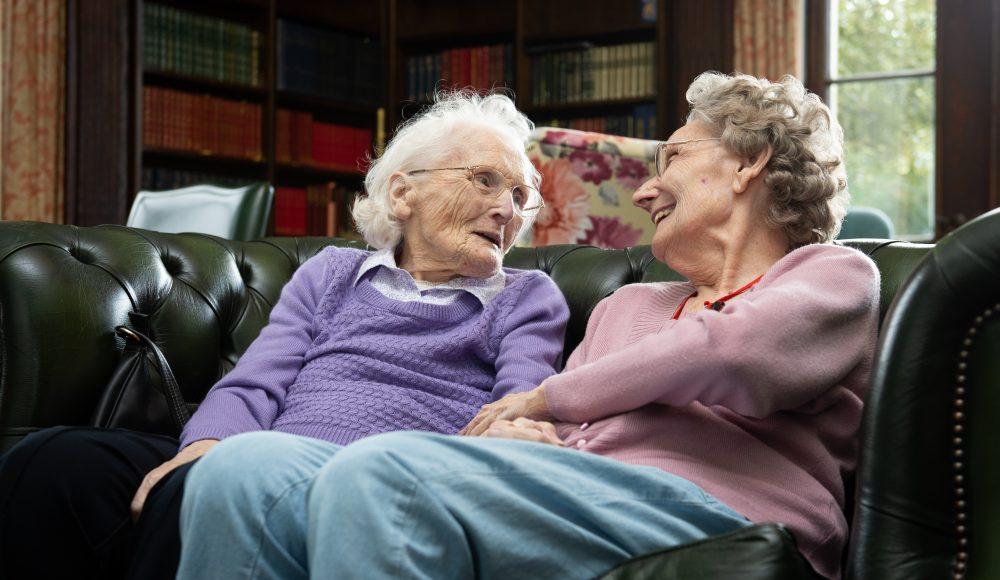 Residents socialising at Prince Edward Duke of Kent Court