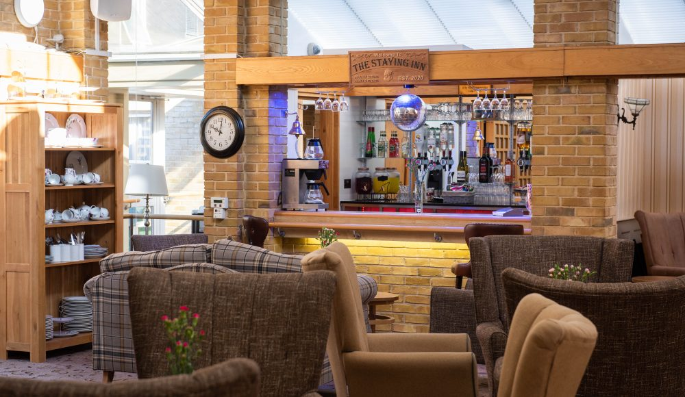 Bar and lounge at Prince Michael of Kent Court
