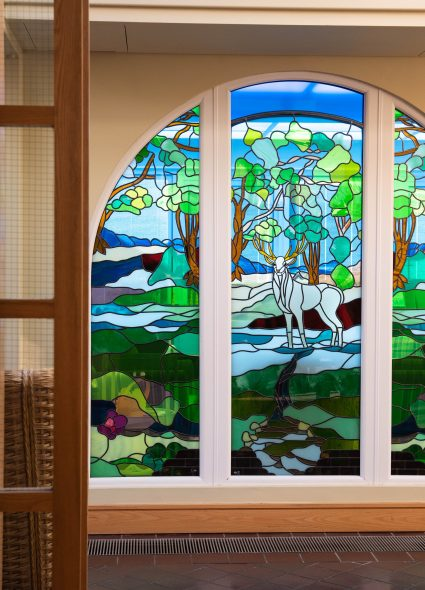 Decorative window at Prince Michael of Kent Court