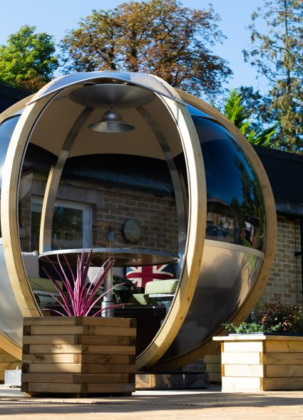 Outdoor pod at Prince Michael of Kent Court