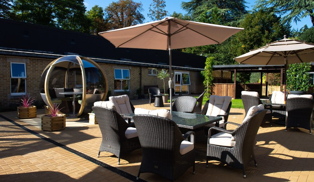 Garden area at Prince Michael of Kent Court