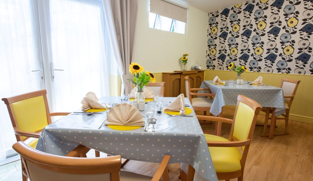 Dining area at Prince Michael of Kent Court