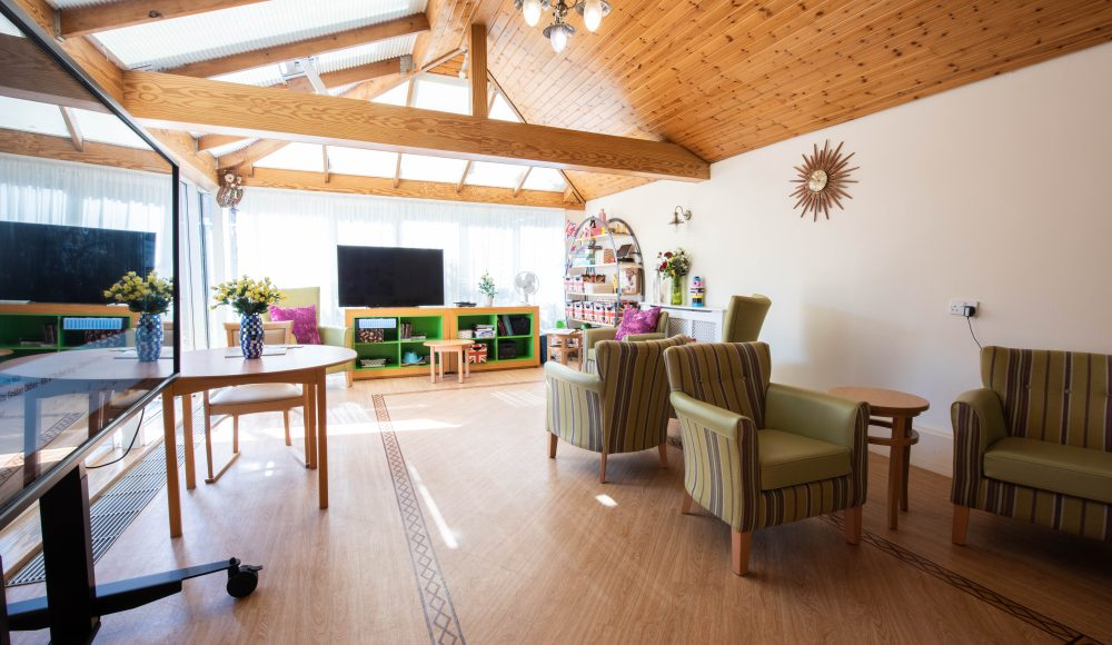 Lounge area at Prince Michael of Kent Court