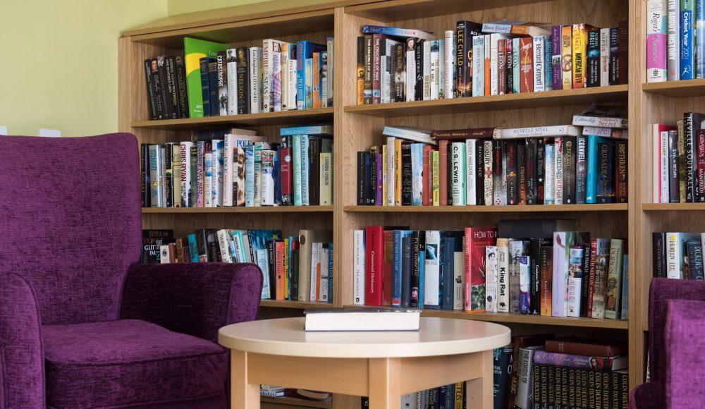 Reading area at Queen Elizabeth Court