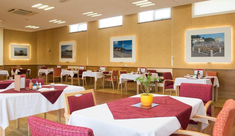 Dining area at Queen Elizabeth Court