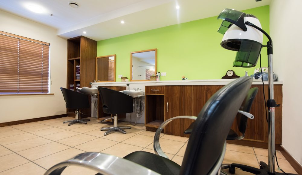 Beauty salon at Scarbrough Court