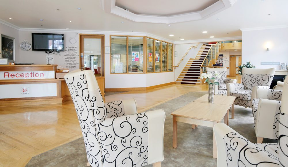 Reception area at Scarbrough Court