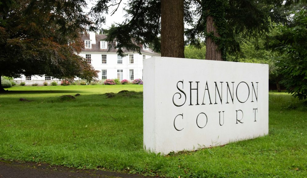 Exterior view and gardens at Shannon Court
