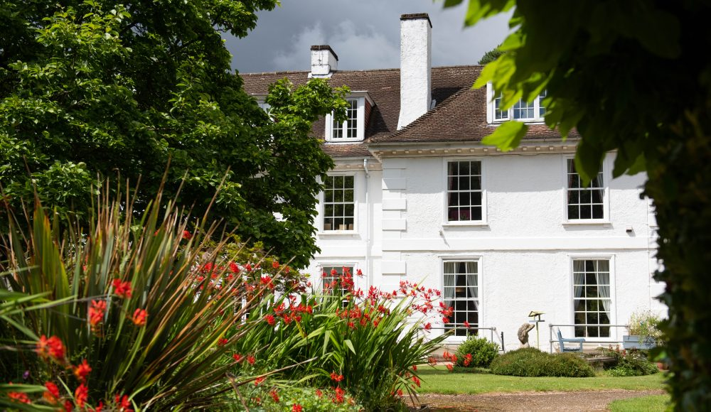 Exterior building and gardens at Shannon Court
