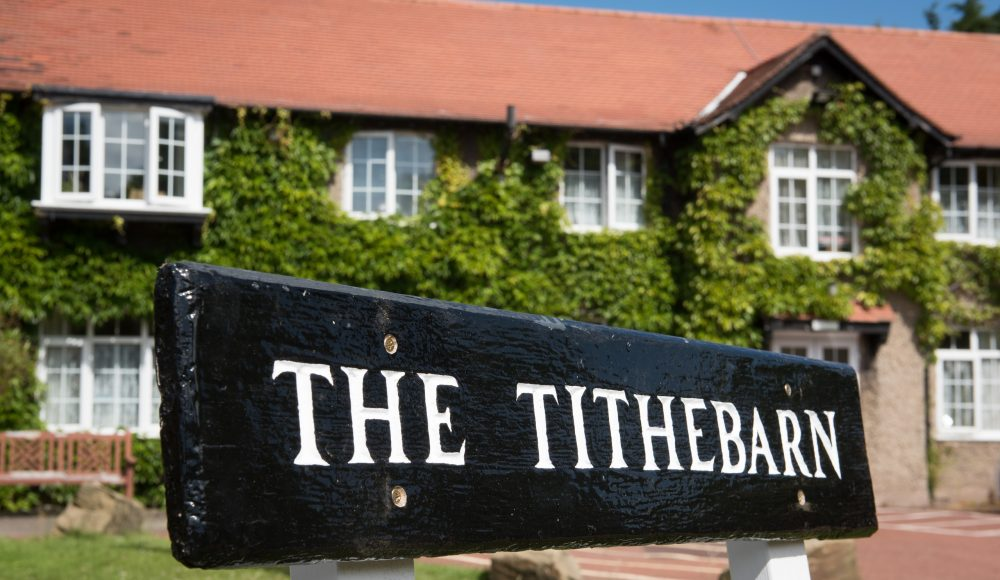Main entrance  at The Tithebarn