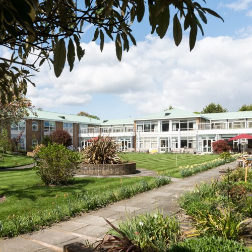 Bui;ding and gardens at Prince George Duke of Kent Court