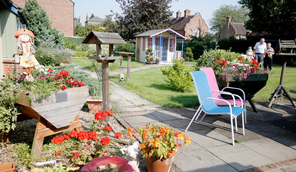Garden area at Connaught Court