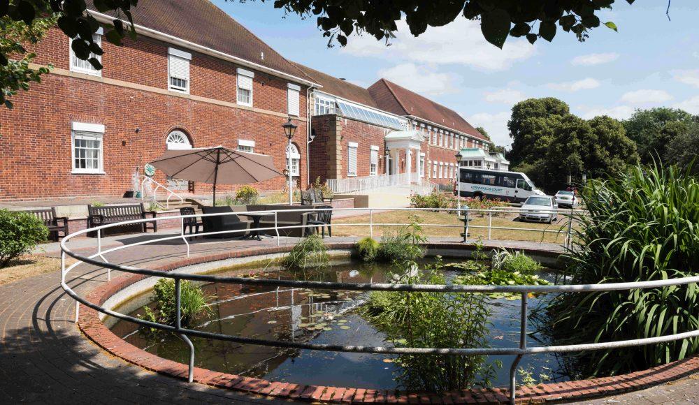 Fish pond at Cornwallis Court