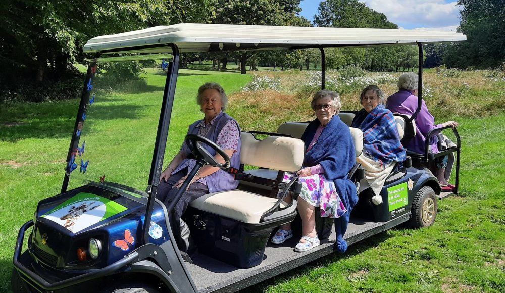 Residents on safari vehicle at Prince Edward Duke of Kent Court