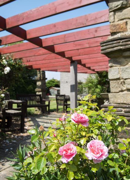 Outdoor gardens at Barford Court