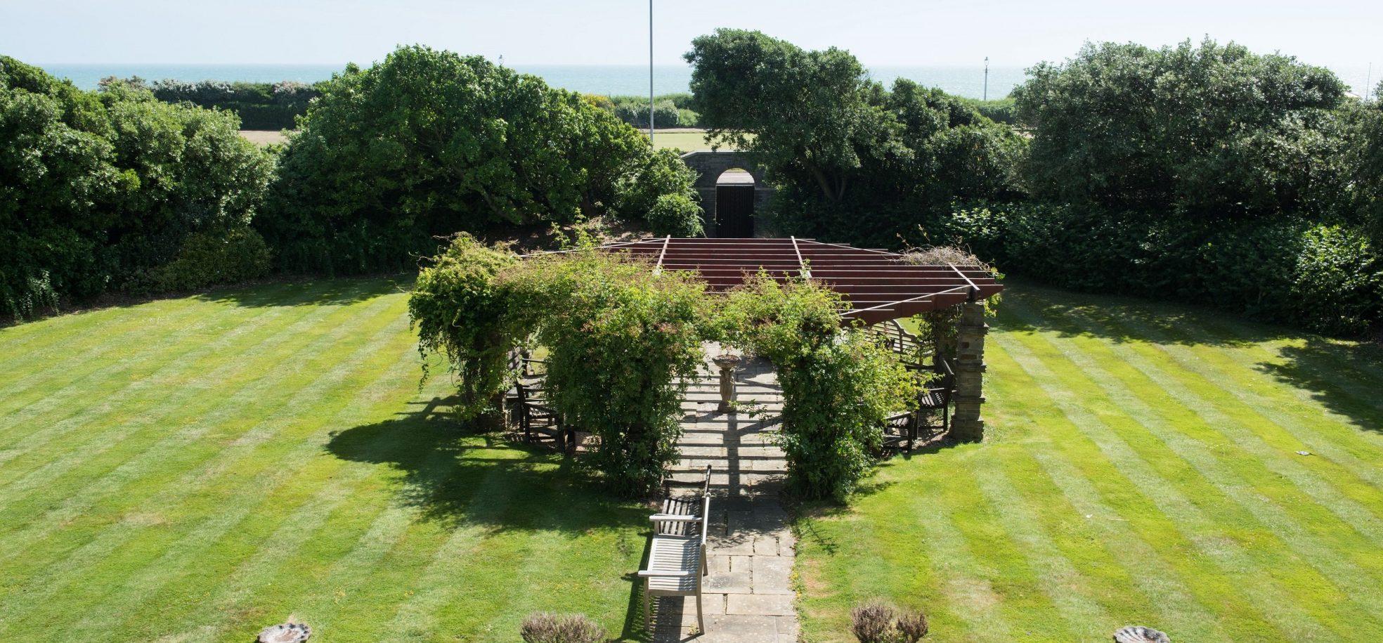 Gardens and pergola at Barford Court