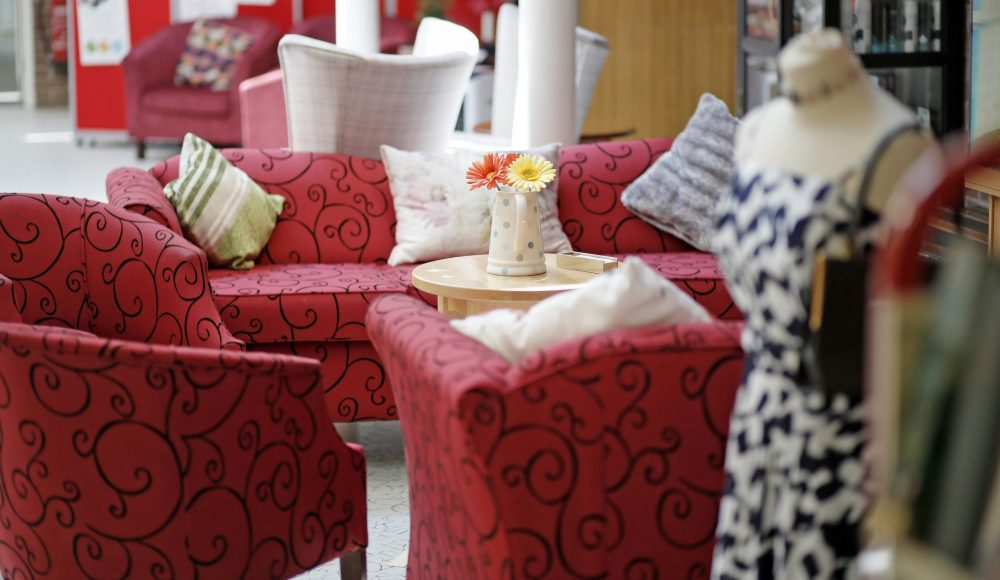 Lounge area at Barford Court