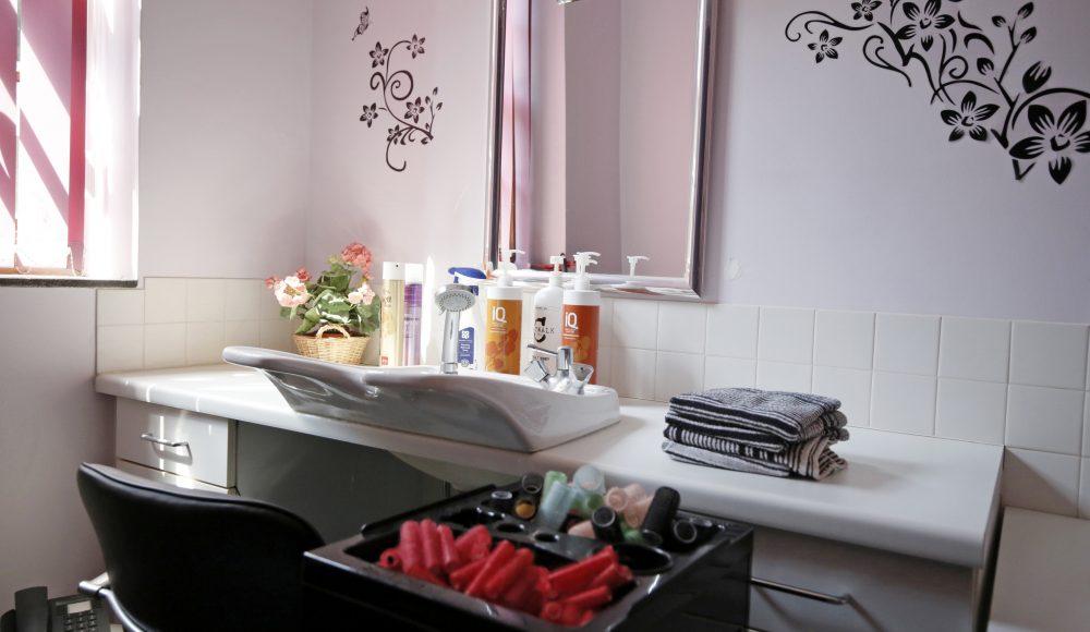 Hair salon at Barford Court