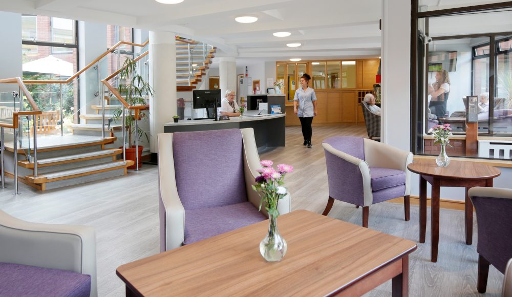 Reception area at Cadogan Court