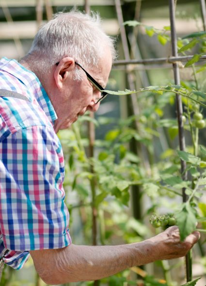 Resident gardening at Connaught Court