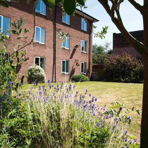 Gardens and building at Ecclesholme
