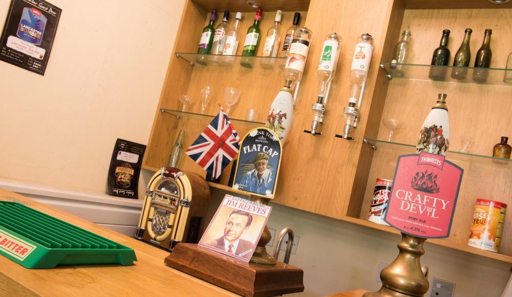 Bar area at Ecclesholme