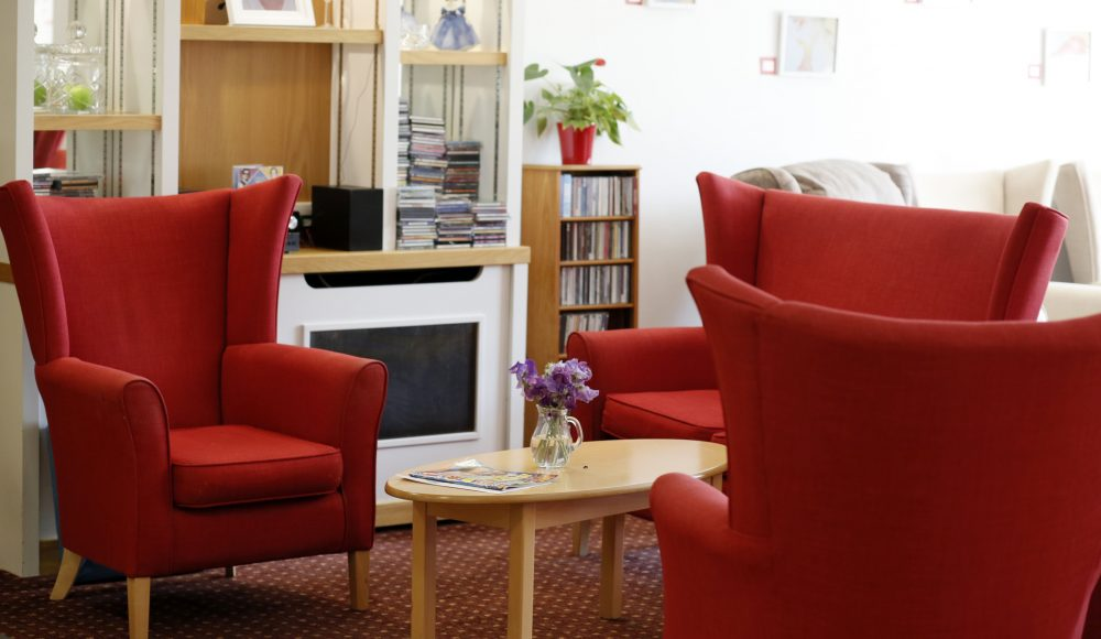 Seating area at Lord Harris Court