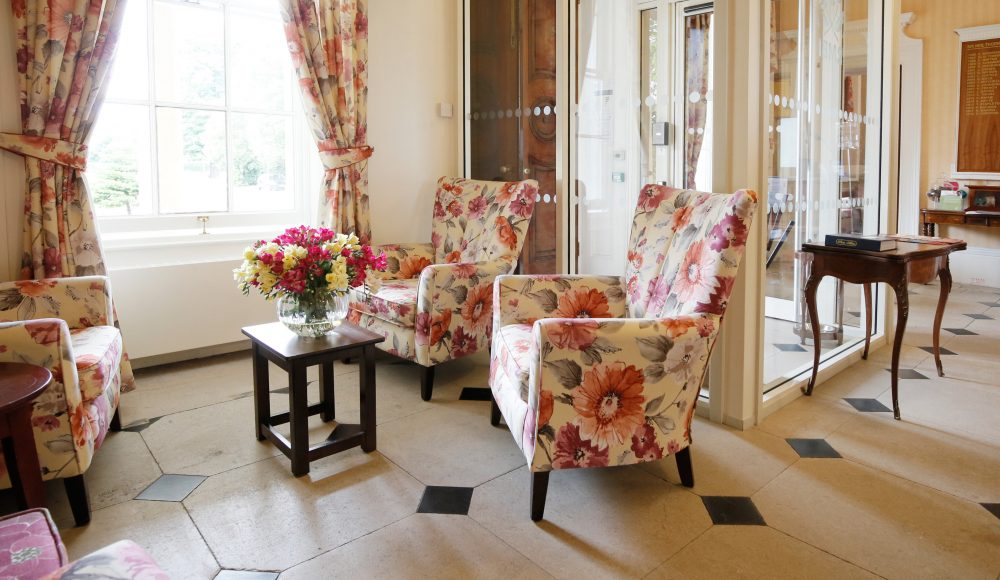 Reception area at Prince Edward Duke of Kent Court