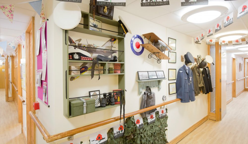 War display at Prince Michael of Kent Court