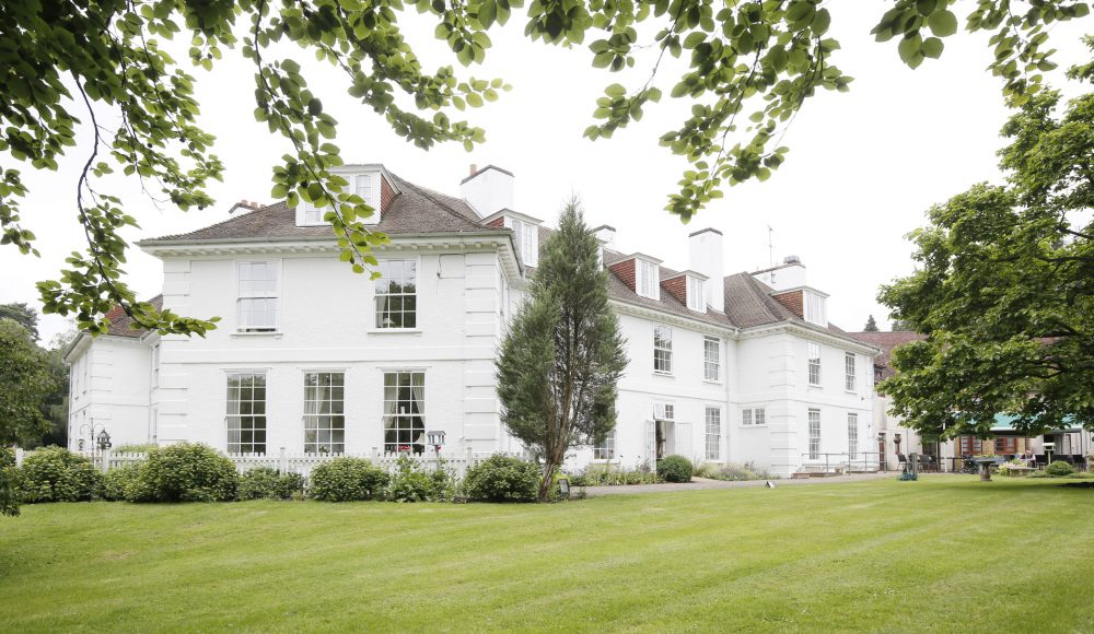Outside building and gardens at Shannon Court