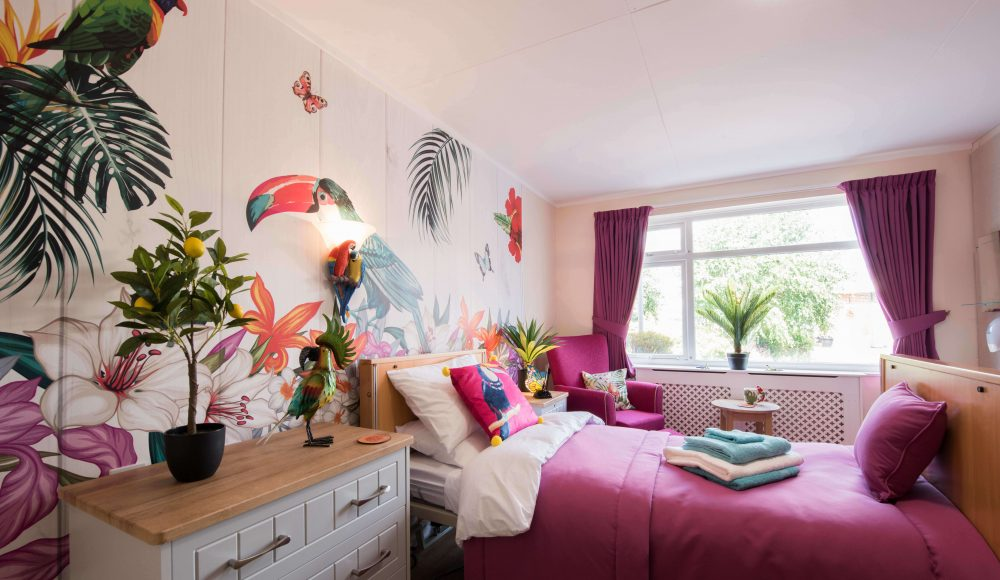 Rainforest themed room at Devonshire Court