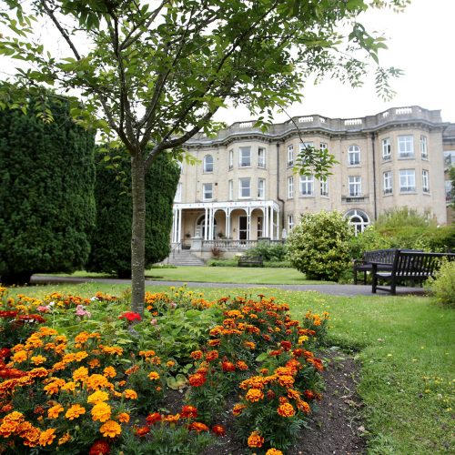 Front building and gardens at Zetland Court