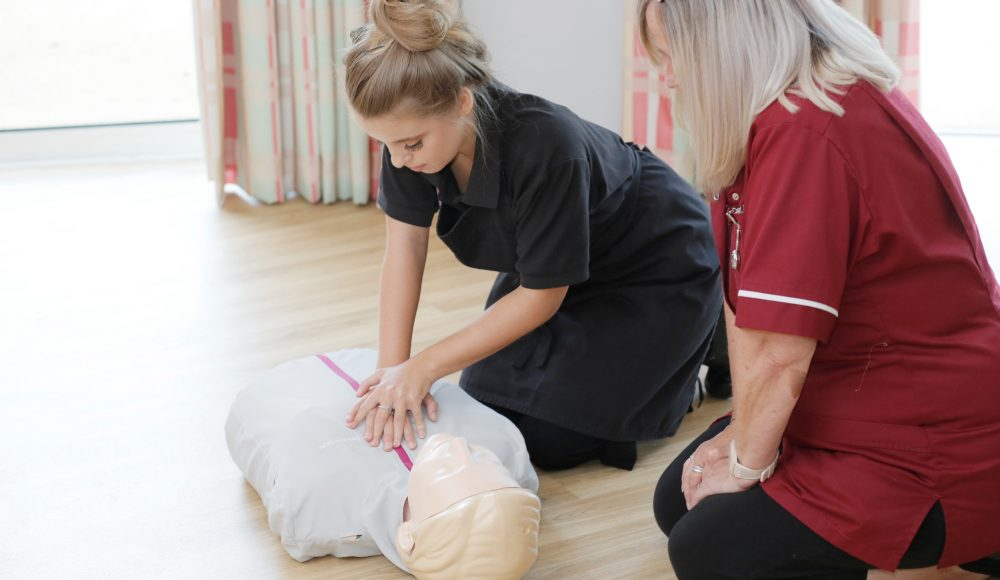 First Aid training at Cadogan Court