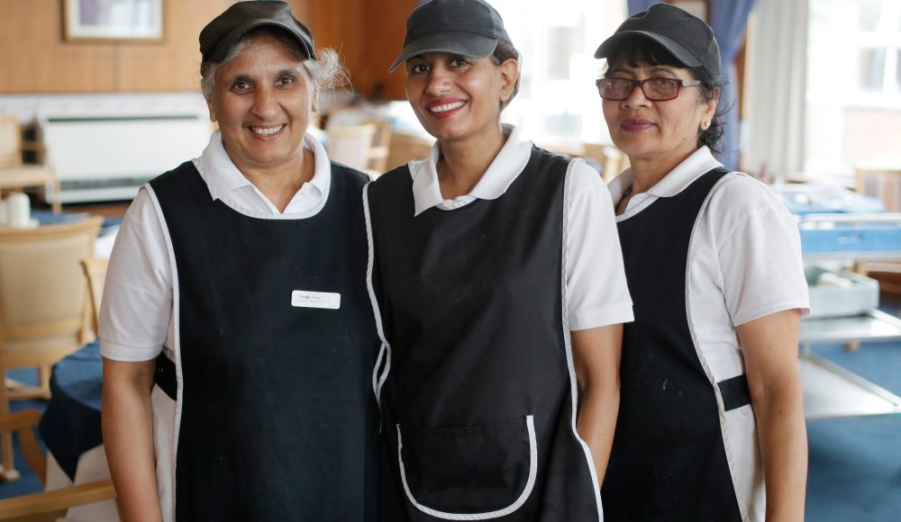 Catering staff at Cadogan Court