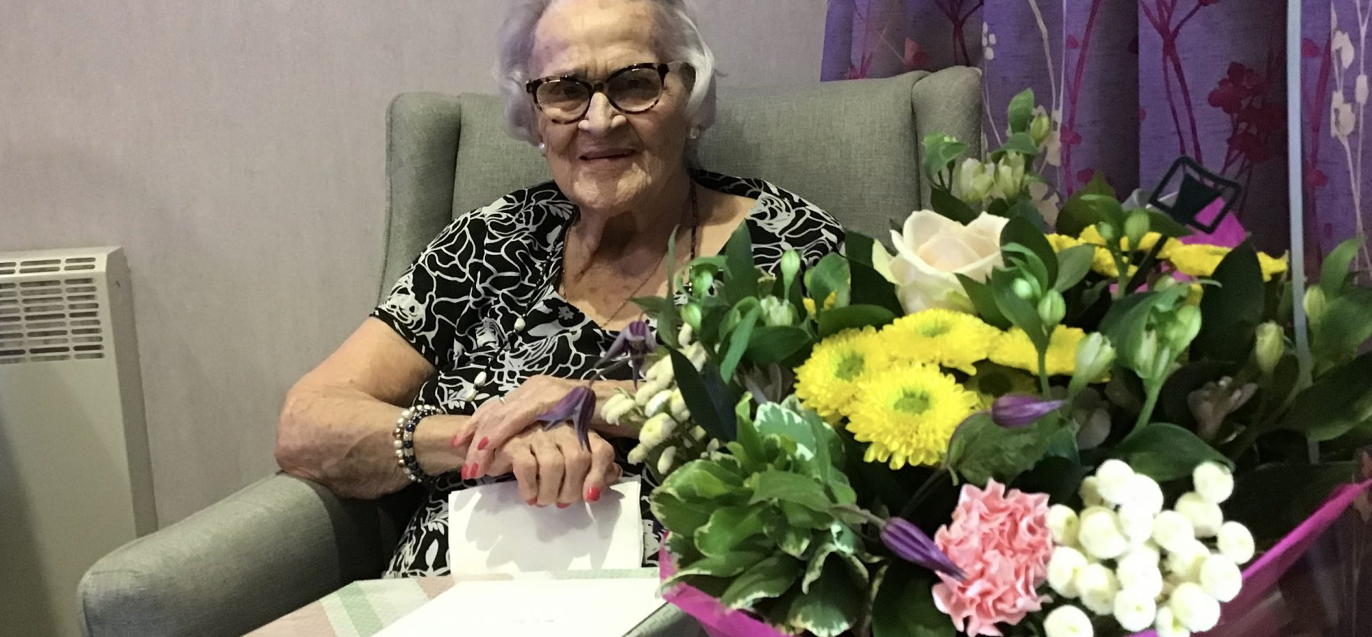 Dorothy celebrating her 104th birthday