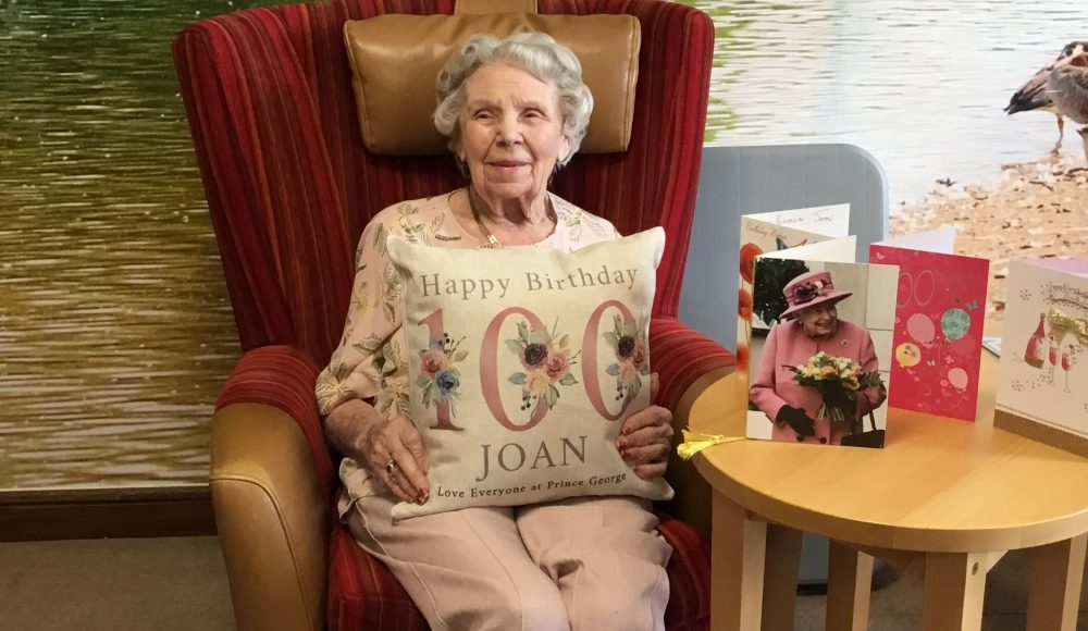 Resident celebrates 100th birthday at Prince George Duke of Kent Court