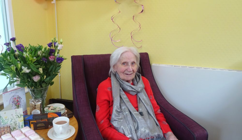 Resident's 100th birhday at Barford Court