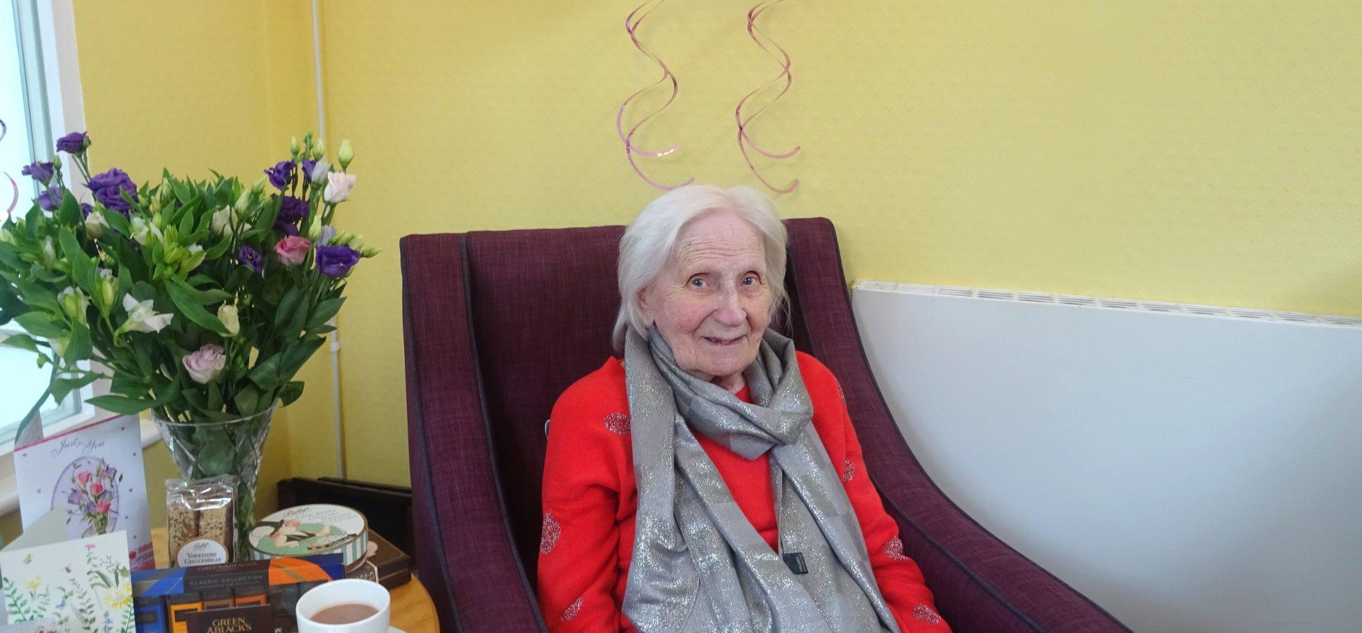 Resident's 100th birhday at Barford Court